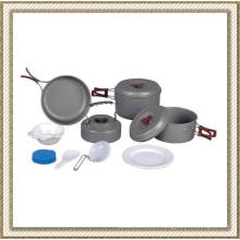Batterie de cuisine en aluminium de camping en aluminium (CL2C-DT1915-6)