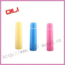 Pure color stainless steel bullet vacuum flask