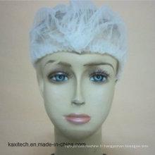 Chapeau non-tissé de mob jetable / chapeau d'agrafe / résille / chapeau chirurgical