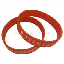 Bracelets en silicone avec impression 1c