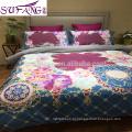 2017 amazon venda quente bordado moda dragão e phoenix padrão jacquard casamento chinês conjunto de cama