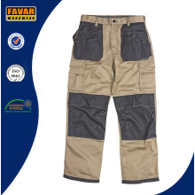 Mens Workwear Black Stone Cargo Pockets Work Trousers