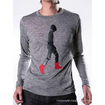Patch Embroidery Fashion Cotton Custom Wholesale Men T Shirt