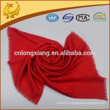 New Design Factory Price Echarpe réversible en laine rouge Herringbone
