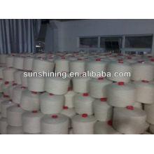 100% 6NM / 1 puro fio de lã NZ branco cru para tapete