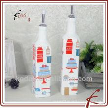 Garrafas de óleo e vinagre decorativas
