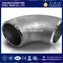 Vente chaude 6 pouces diamètre 60 degrés en acier au carbone tuyau coude