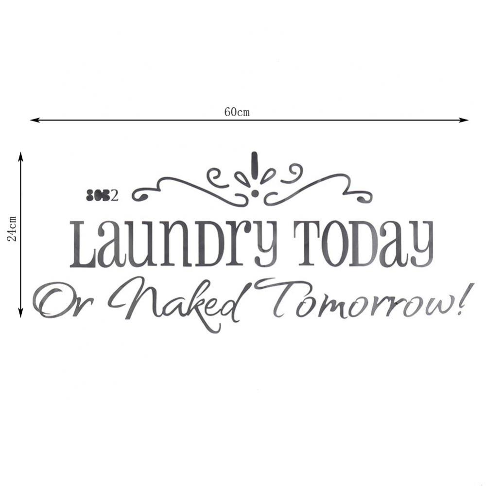 Wall Quote Laundry Today Stickers muraux