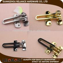 Herrajes de fijación de la puerta Aleación de zinc Protector de puerta de seguridad con acabado variado plateado