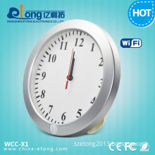 1280*720p HD White Wall Clock WiFi Security Camera (WCC-X1)