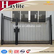 forjado al aire libre puerta de hierro forjado puerta principal / diseño de la parrilla de la puerta