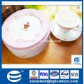 Europea popular por mayor de porcelana de hueso de porcelana grano torta stand platos finos de cena