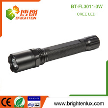 Factory Supply 1*18650 Battery Used Multi functional High Power Cree 3W Tactical Police Rechargeable led Torch Light Flashlight