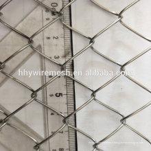 galvanisé diamant maille clôture type losange maille d'exportation chaîne lien fil de clôture