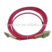 Feito no cabo óptico da fibra do multimode 50 125 do lc de China, cordão de remendo om4, cabos de remendo da fibra ótica 10gb