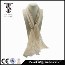 Bufanda de las bufandas del cordón del llano de la manera para la mujer
