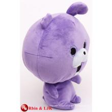 ICTI Audited Fábrica de alta calidad Personalizado promocional conejo púrpura juguetes de peluche