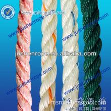 3 strand twisted polypropylene rope