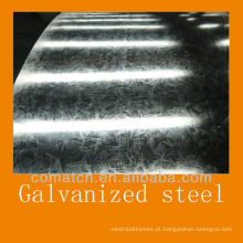 Lantejoula regular e revestimento de zinco quente mergulhe aço galvanizado em bobinas e chapas