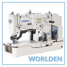WD-781 alta velocidade botão reta fura a máquina de costura