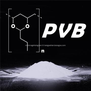 Poudre chimique de résine de polyvinyl butyral PVB de matière première