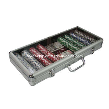 400PCS Poker Chip Set in Transparent Cover Aluminum Case (SY-S25)