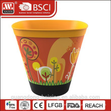 Popular In-Mold labeling Plastic Flower Pot for garden decorated