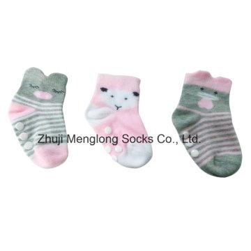 Matériel de coton chaussettes 3D mode infantile de jolies filles