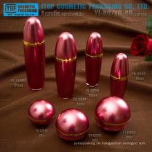 Neuheit hot-Seller guter Qualität innovative Kugel Form Kosmetikverpackungen Flasche und Glas Kunststoff Acryl-Behälter