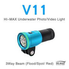 Torche de photographie de lampe de poche de plongée 2400lumen haute intensité