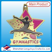 Esmalte macio medalha de esportes de metal medalha de estrelas de ginástica esportiva (lzy-201300231)