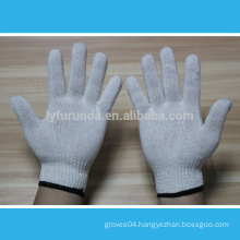 10 gauge natural white cotton knitted working gloves 400 grams