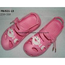 Dernières conception EVA jardin chaussures pantoufles de mode pour les enfants (fbj521-13)