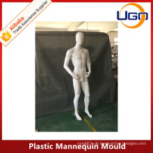 Unzerbrechliche weibliche Plastikmannequinform in mattweiß