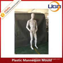 Непрерывная женская пластиковая манекен-пресс в матовом белом