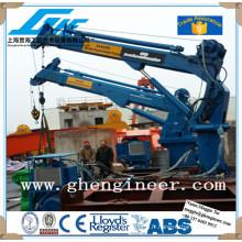 Machine de levage à flèche télescopique hydraulique électrique Grue de pont de navire