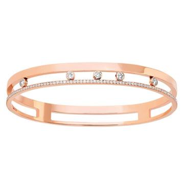 Gold überzogenes 925 silbernes Mikro-Satz CZ-Diamant-Schmucksachen für Frauen