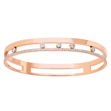 Oro plateado 925 plata Micro Set joyas de diamante CZ para las mujeres