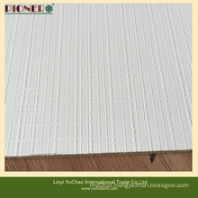 White Color Polyester Plwood with Textured Surface