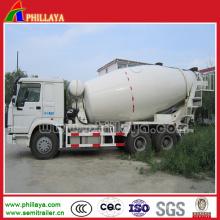 Camion de mélangeur de ciment de semi-remorque de camion de 12 cbm