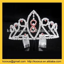 Tiara nupcial y corona con peine de pelo