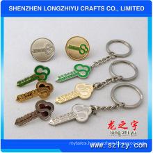 Fashion Zinc Alloy Keychain Key Shape Keychain