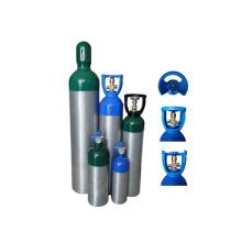 high pressure capacity aluminum medical oxygen gas 5L ISO9809140-7L 150bar