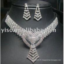 Ensembles collier de bijoux de mariage