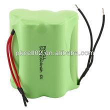 Batterie rechargeable de 6V aa 1600mah Nimh pour des jouets, éclairage de LED