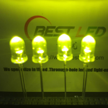 LED Ultra Bright 5mm 565nm 570nm LED verde-amarelo