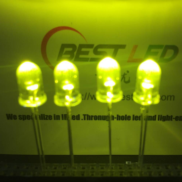 LED giallo-verde a 5 LED 565nm 570nm ultra luminoso