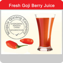 Health drink goji juice in aseptic bag