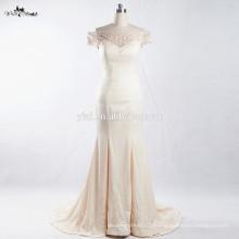 RSW908 cuadros de los últimos vestidos diseños de los hombros de champán de colores sirena vestidos de novia de la boda de la moda para las mujeres