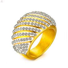 Stainless Steel Bangladesh In Crystal Gold Rings Design For Women